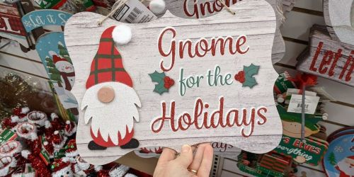 Dollar Tree Has NEW Holiday Decorations Featuring Adorable Santa Gnomes