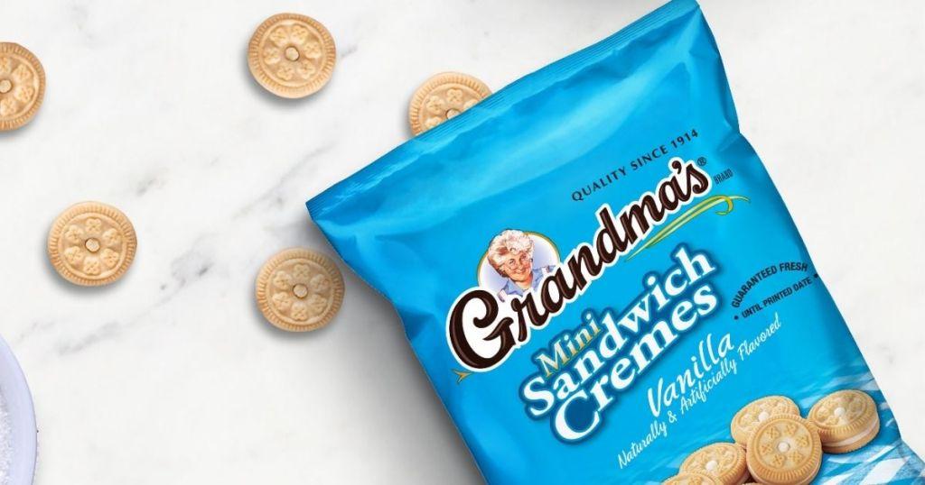 bag of Grandma's sandwich creme cookies