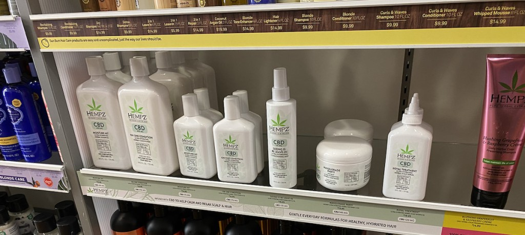 HEMPZ CBD Products on shelf at ulta