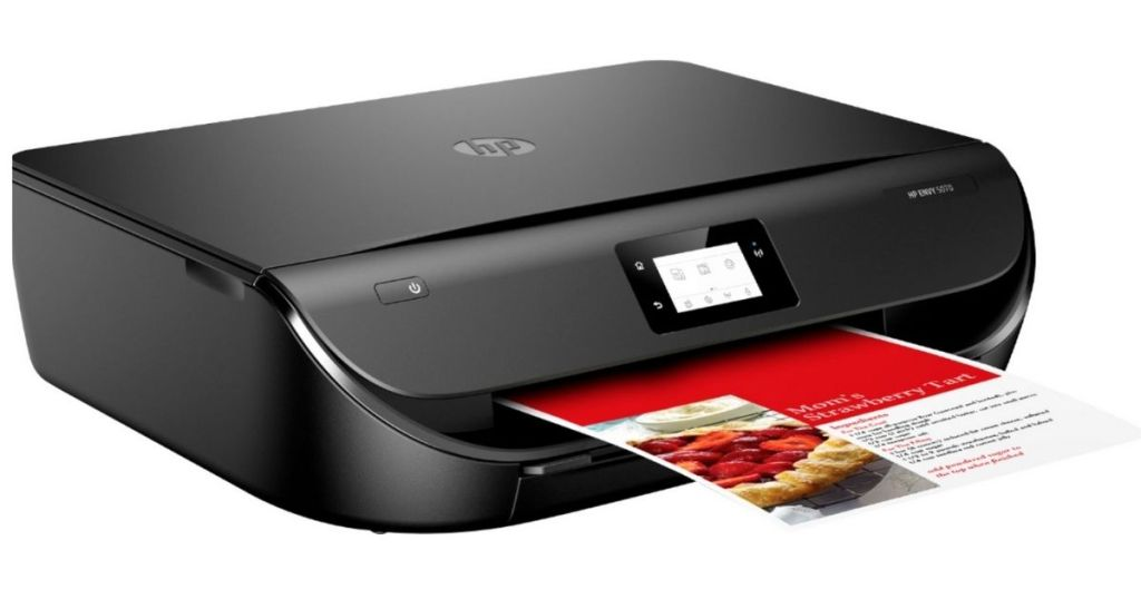 HP ENVY 5070 printer printing recipe