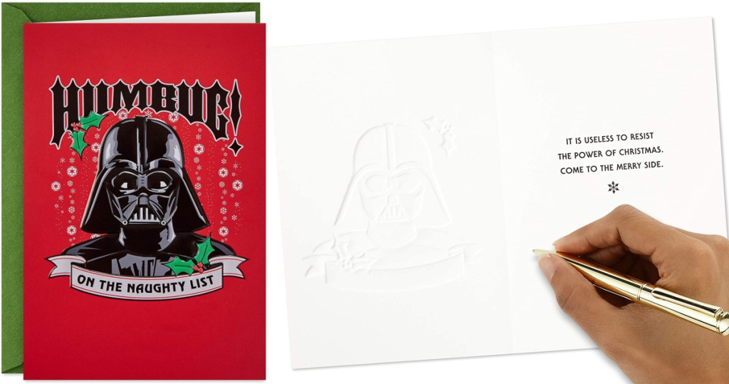 Hallmark Star Wars Darth Vader 16-Count Boxed Christmas Cards