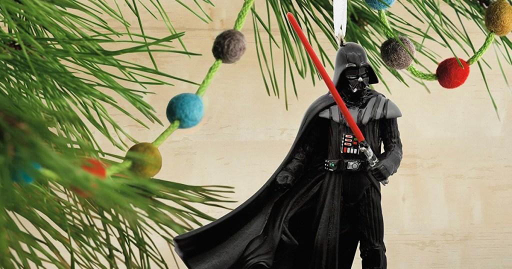 Hallmark Star Wars Darth Vader With Lightsaber Christmas Ornament