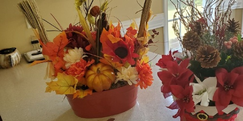 This Reader Created Seasonal Centerpieces Using Dollar Tree Items