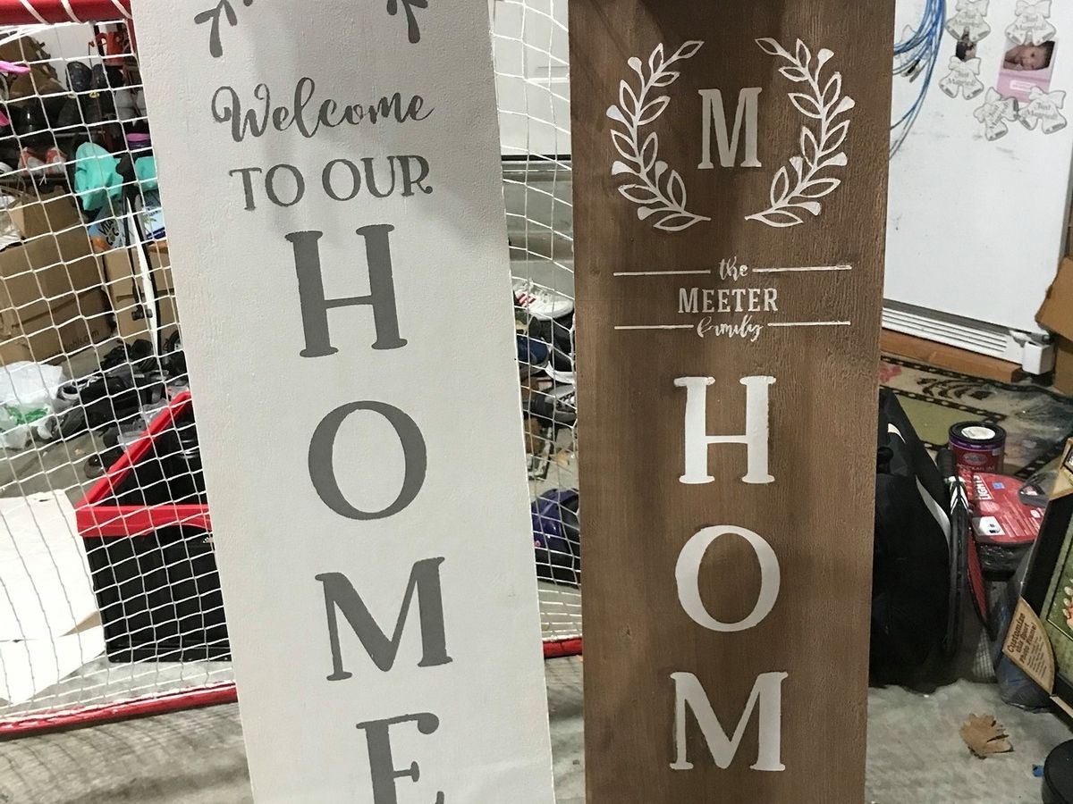 personalized wood welcome porch signs