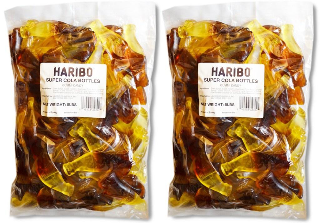 Haribo Gummi Candy Super Cola Bottles 5-Pound Bag