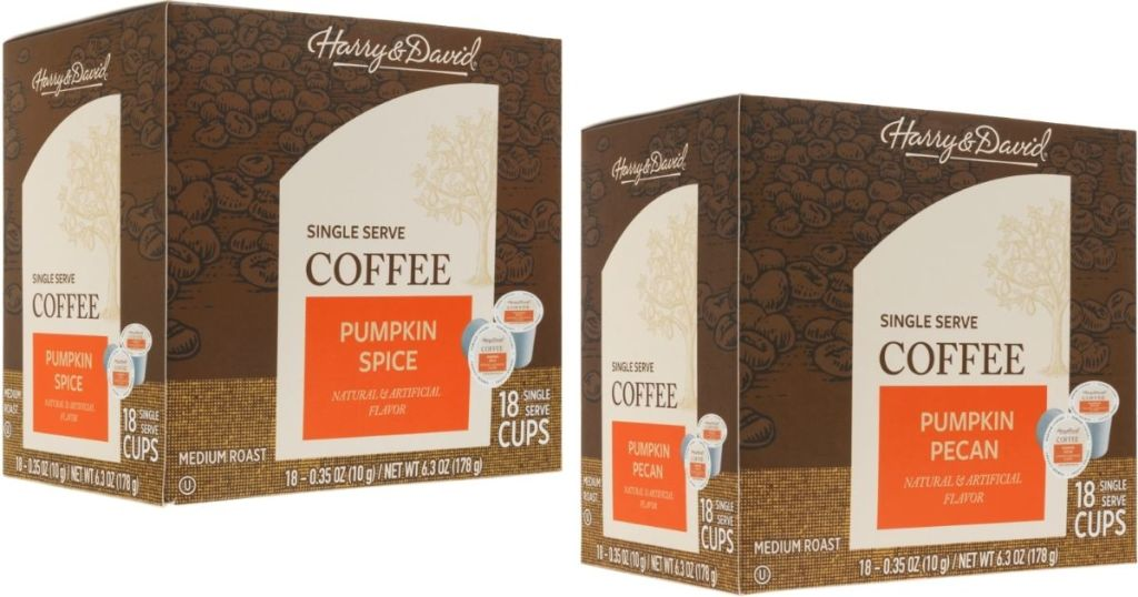 two boxes of Harry & David coffee