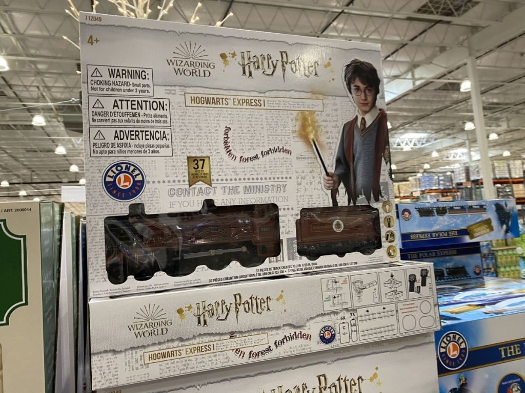 Harry Potter Train Set on display in store