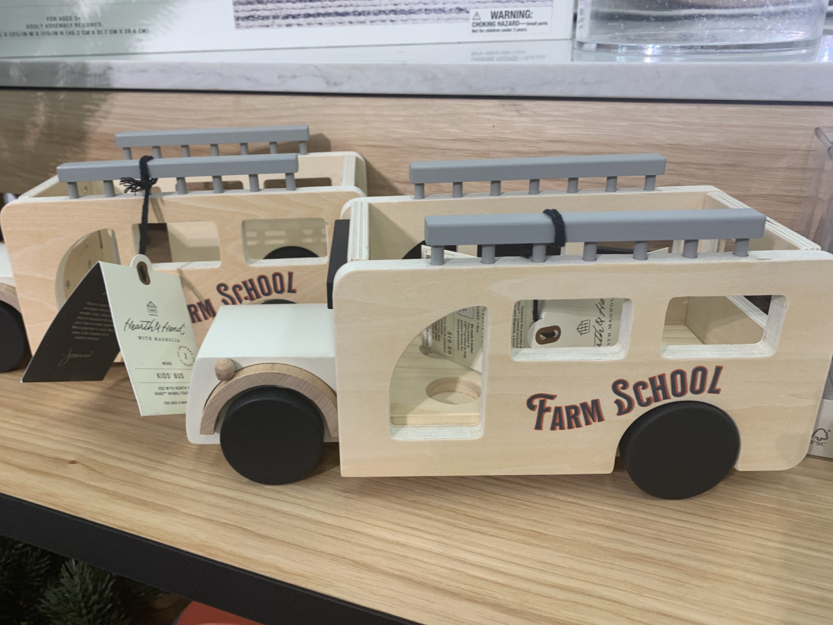 Hearth & Hand with Magnolia kids wooden toy school bus at target