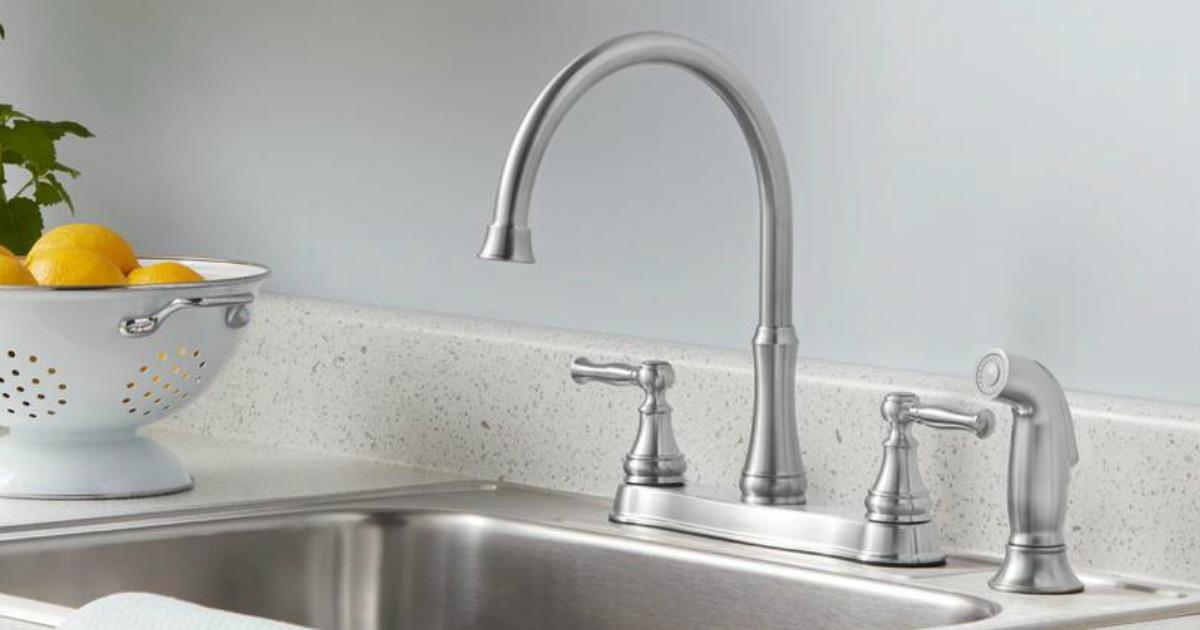 Kitchen Faucet near bowl of lemons