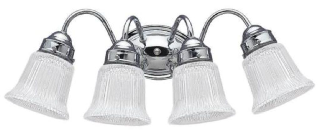 flushed vanity lights with chrome finish