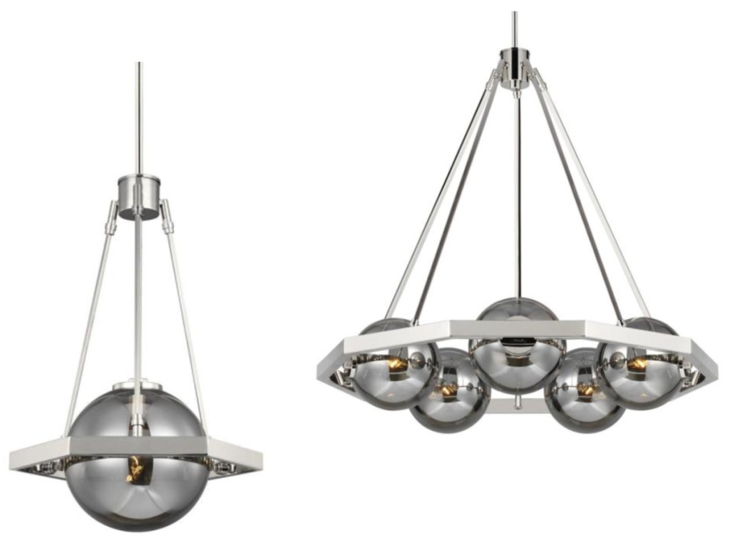 two lighting pendant with smoke colored shades at home depot