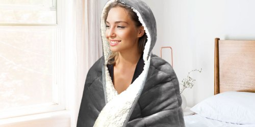 Hooded Weighted Sherpa Throw Blanket Just $29.98 on SamsClub.com (Regularly $46)