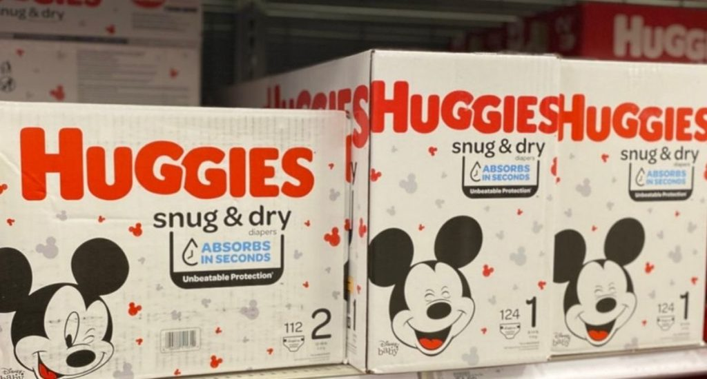 Huggies Snug & Dry Boxed Diapers on Shelf at Store