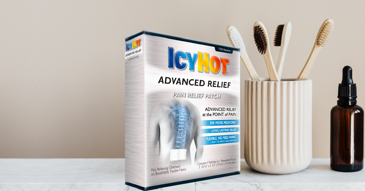 box of Icy Hot pain relief patches