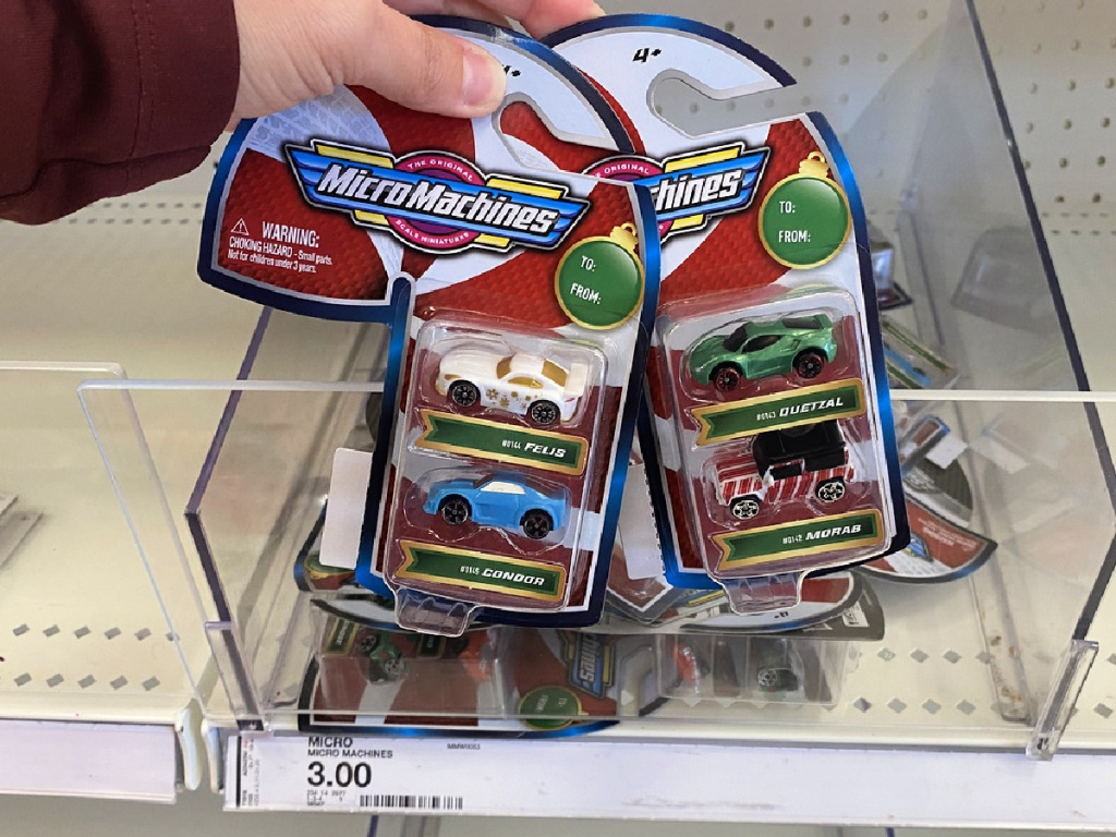 In woman's hand MicroMachines at Target