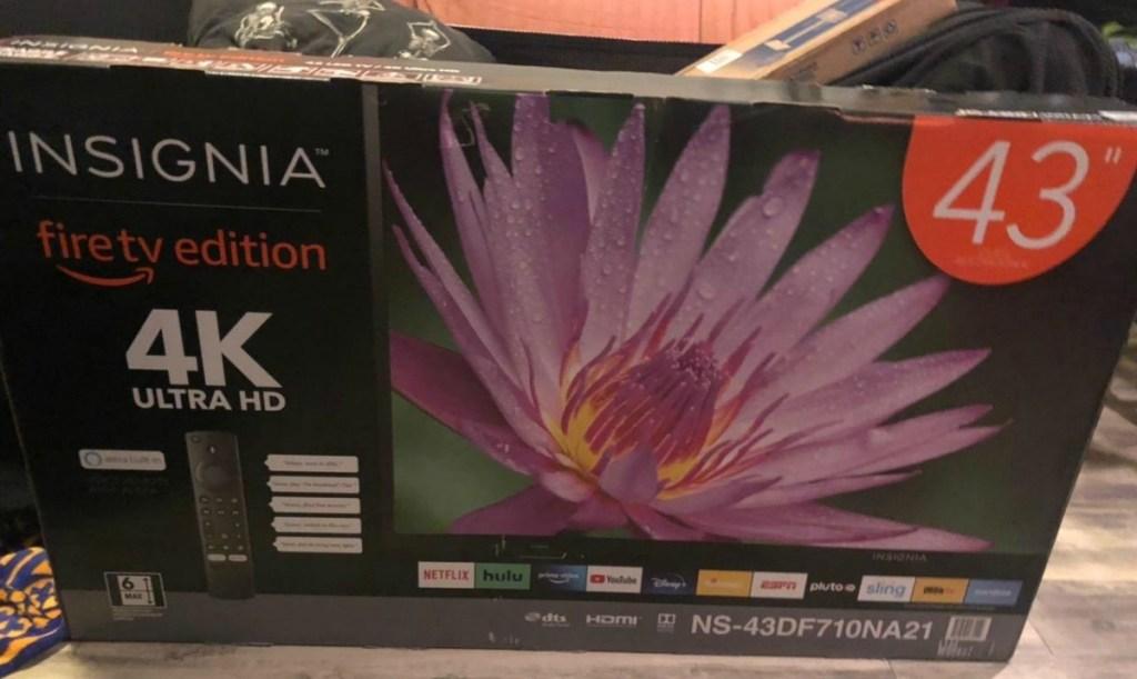 Insignia brand television in a box