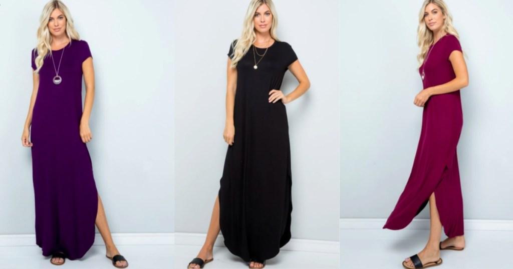 three ladies wearing Jane Dresses