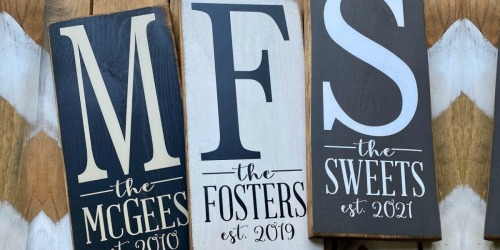 Personalized Established Year Signs Only $19.95 Shipped (Regularly $40)