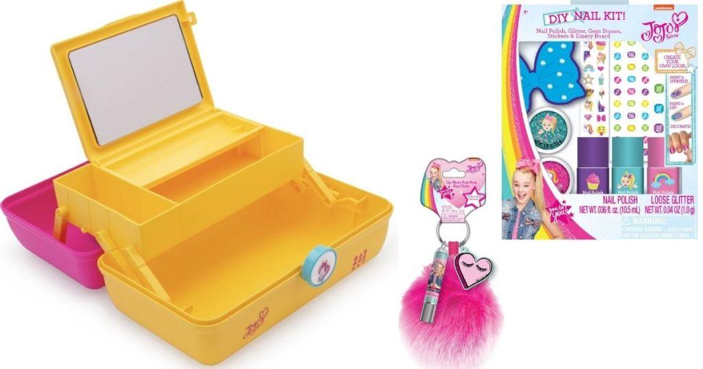 JoJo Siwa Caboodle, lipgloss and nail kit