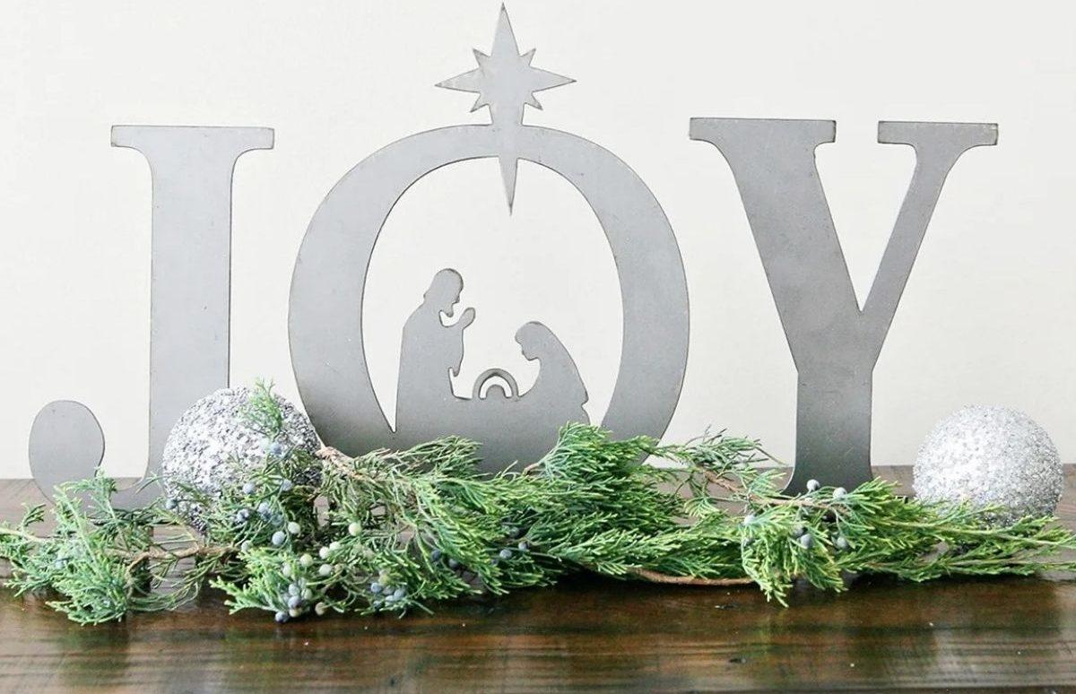 joy metal nativity