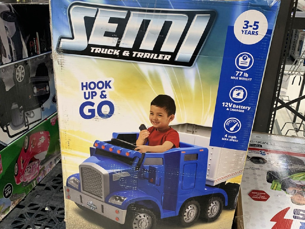 Kid Trax Semi-Truck and Trailer Ride-On Toy at Walmart