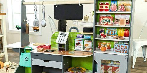 This New KidKraft Kitchen & Market Connects w/ Amazon's Alexa for Interactive Fun