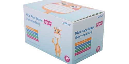 Kids Non-Medical Disposable Face Masks 50-Count Only $6.98 at Sam's Club (Just 14¢ Each!)
