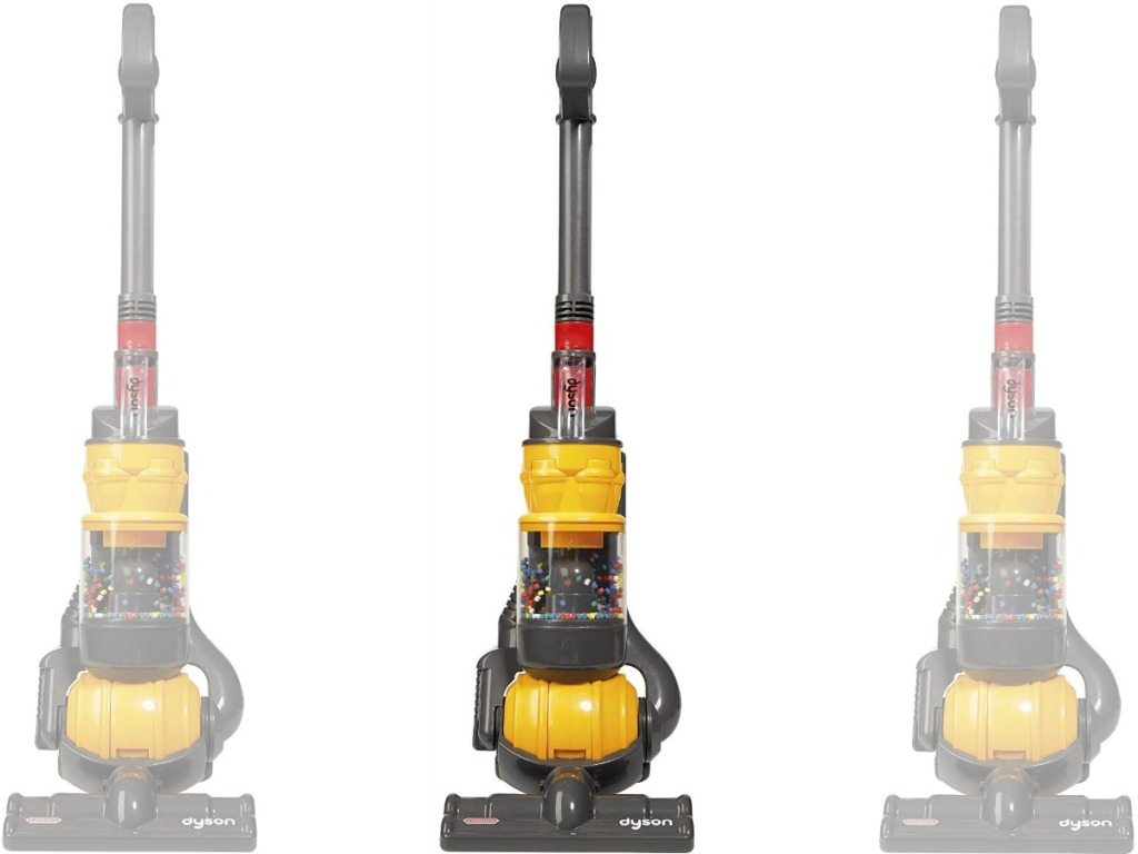 Yellow and gray kids Dyson vacuum