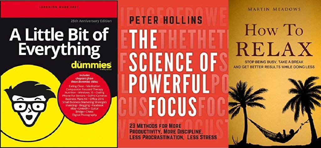 three self-help ebook covers