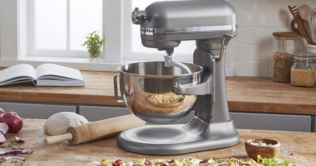 KitchenAid Pro 5 Plus Silver on counter