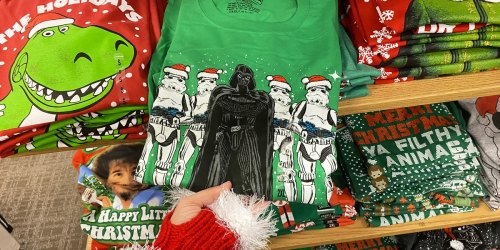 Men's Christmas Graphic Tees Only $7.99 on Kohls.com (Regularly $14) | Star Wars, Toy Story & More