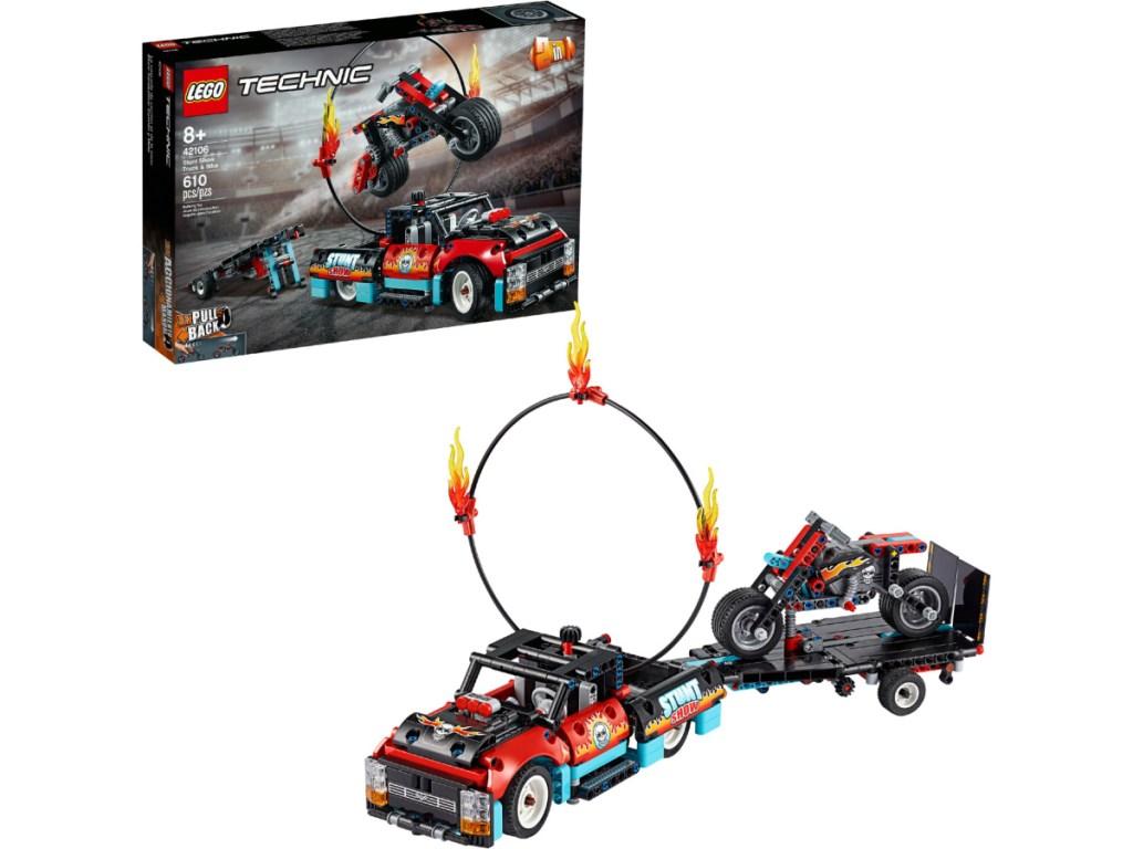 LEGO 2020 Technic Stunt Show Truck & Bike 610-Piece Building Kit