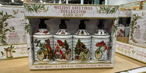 Costco is Offering La Tasse Hand Soap 4-Packs in Holiday Scents for Only $9.99