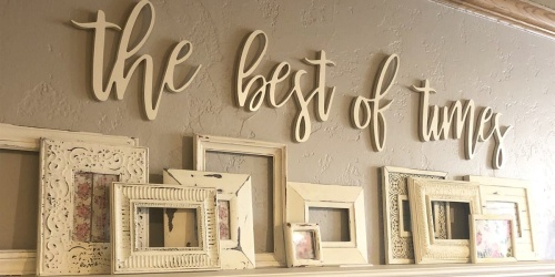 Wall Phrase Signs Only $32.99 Shipped (Regularly $50) | Fun Gift or DIY Project