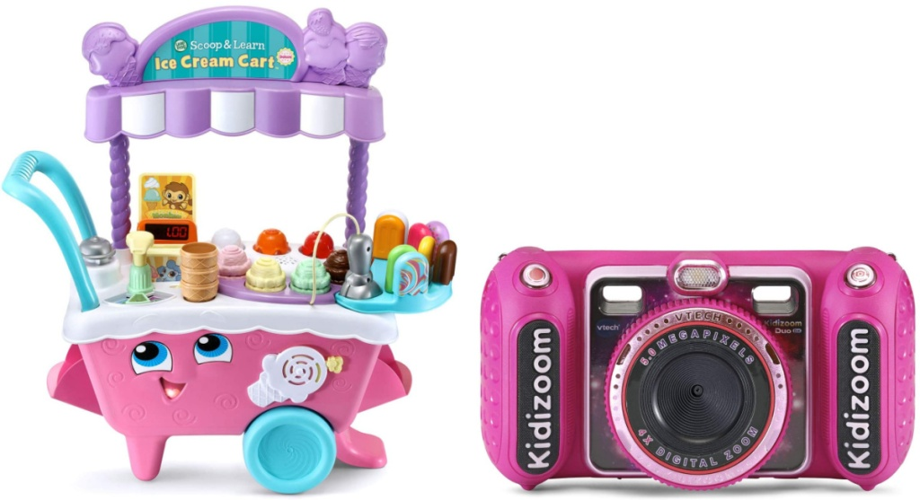 LeapFrog Scoop and Learn Ice Cream Cart Deluxe and KidiZoom Duo DX Digital Selfie Camera