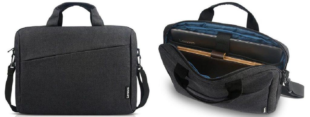 dark gray laptop bag