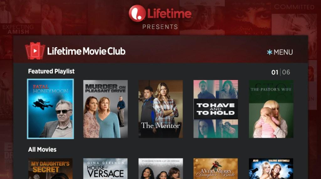 Lifetime Movie Club Prime Channel