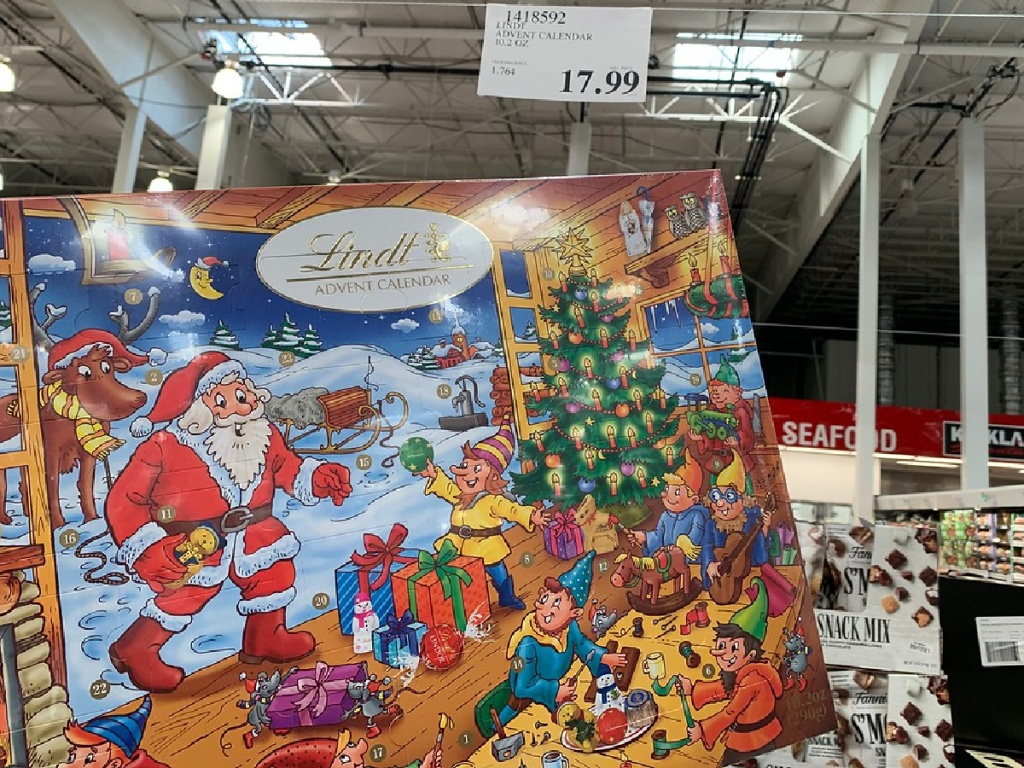 Lindt Chocolate Advent Calendar Only $17.99 at Costco   Hip2Save