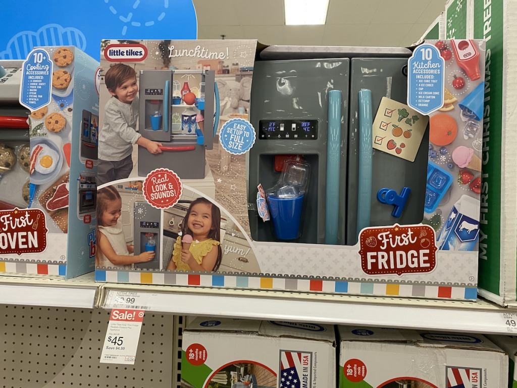 target shelf with Little Tikes First Fridge Playset