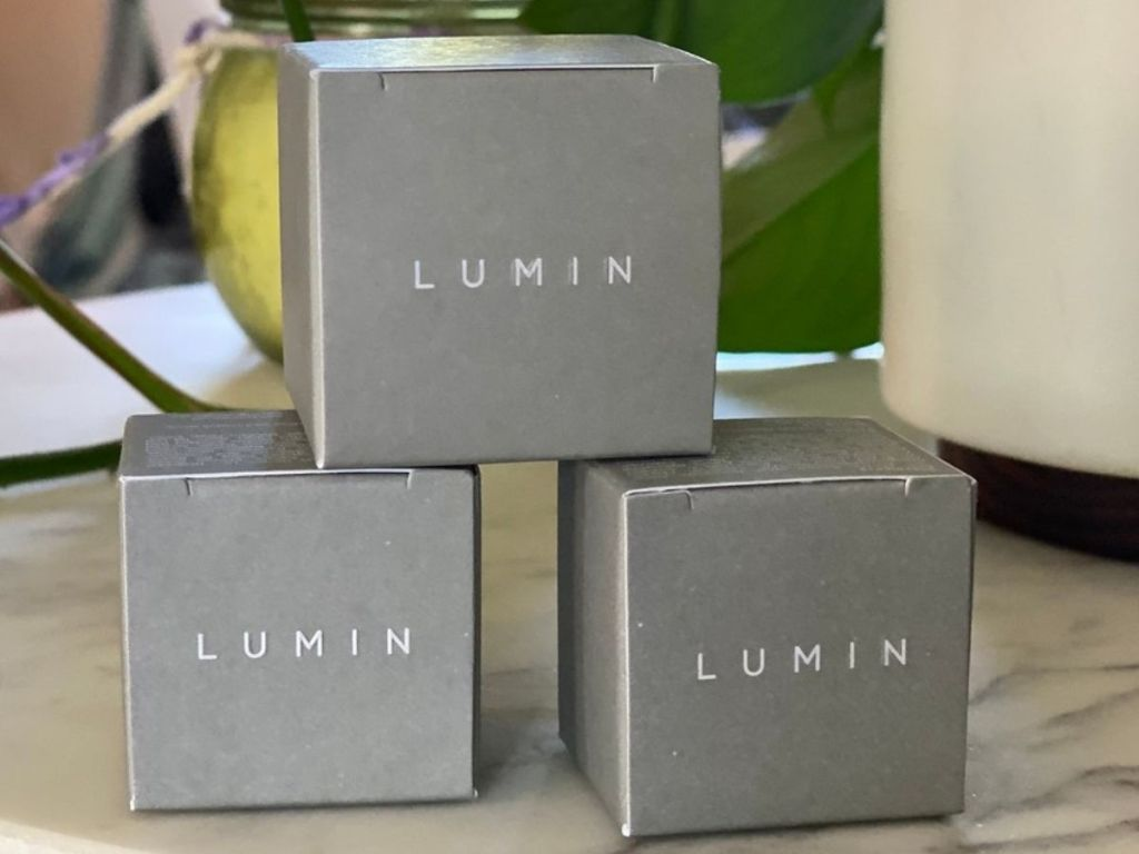 3 Lumin Trial Size Products in Boxes