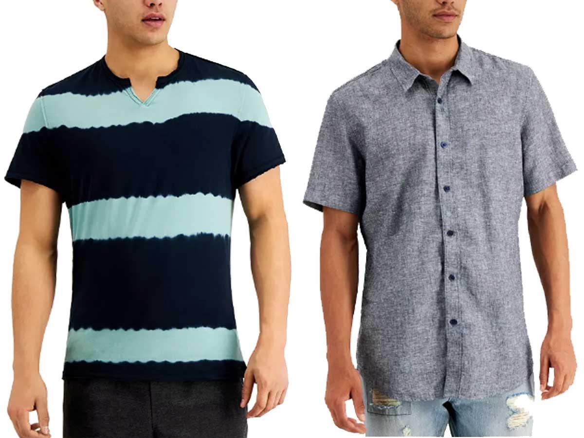 two male models wearing shirts