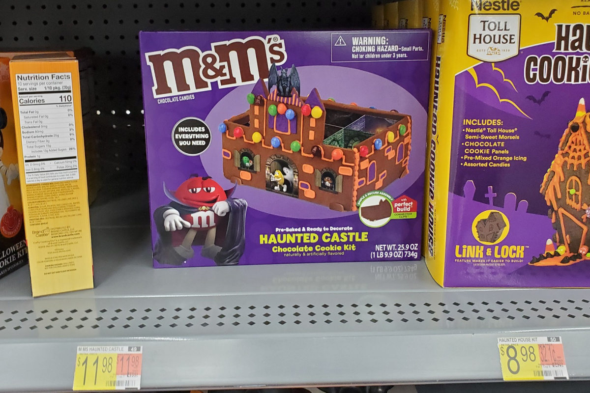 MMs haunted house on shelf at walmart