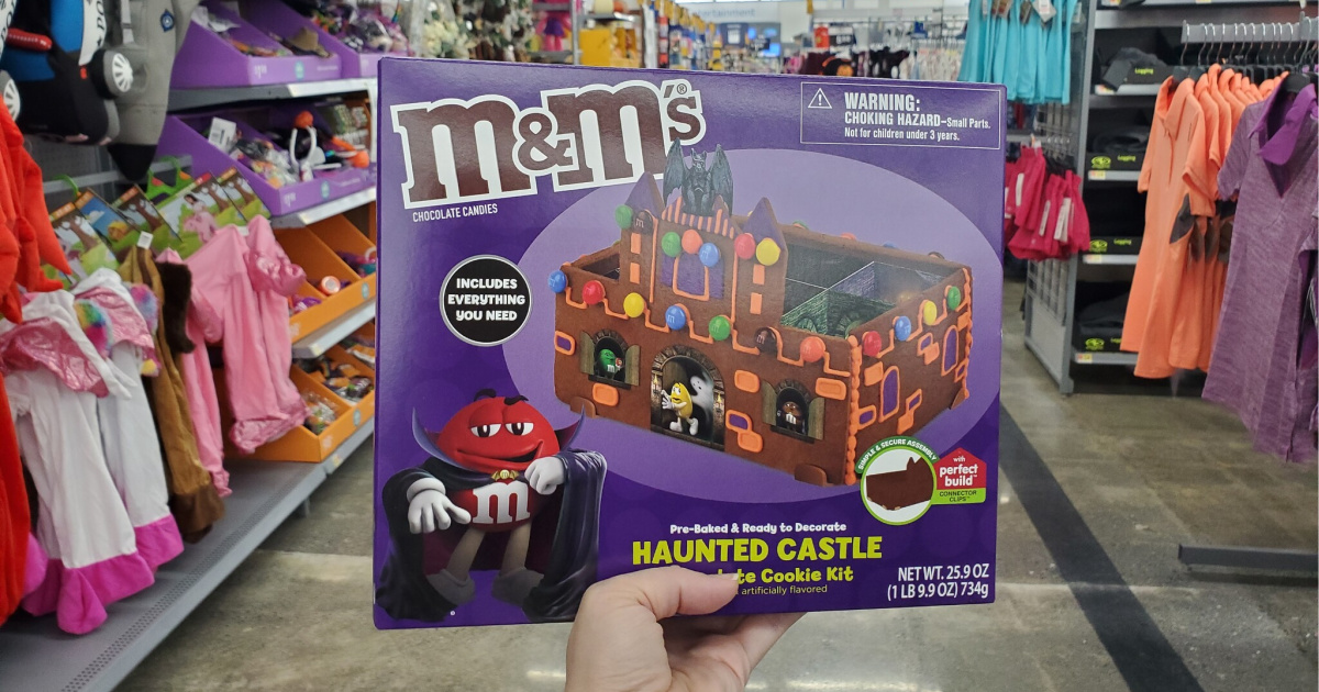 MMs haunted house in hand in store at walmart