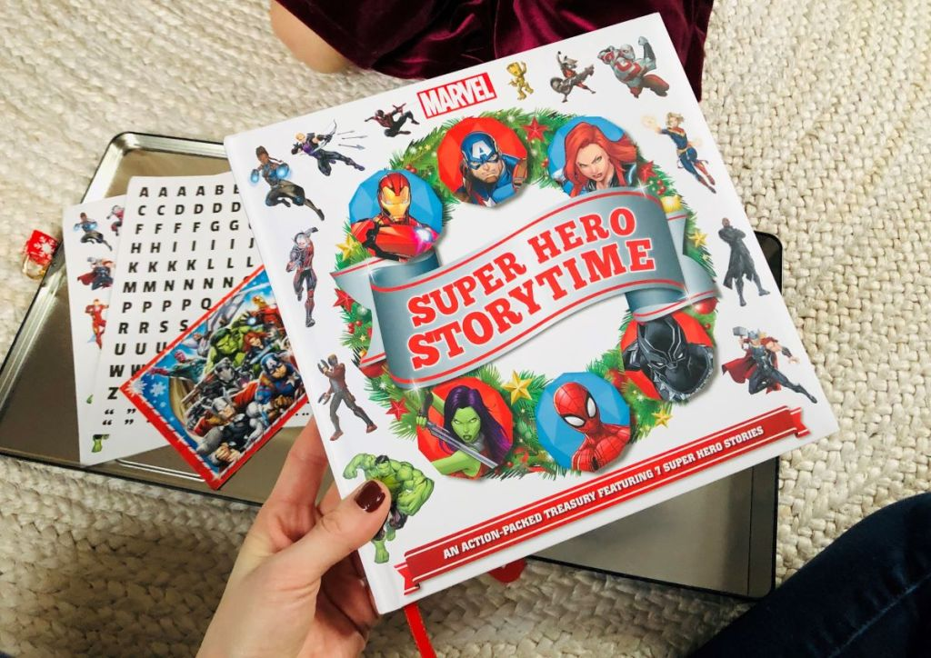 hand holding a Marvel Storybook