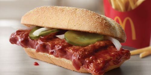 McDonald's is Bringing Back the McRib Sandwich to ALL Restaurants on December 2nd
