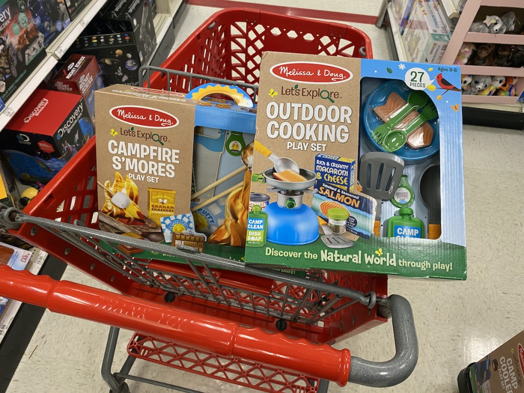 target cart Melissa & Doug Lets Explore Outdoor Cooking and Campfire S'mores Playset