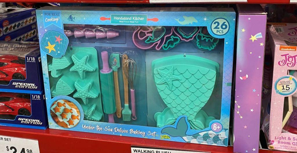 mermaid baking set on shelf at Sam's Club