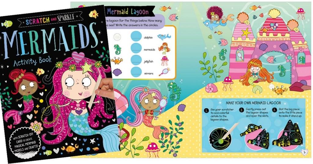 Mermaids Scratch Activity Book