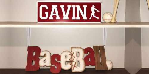 Personalized Metal Sport Signs Only $14.99 Shipped (Regularly $20)