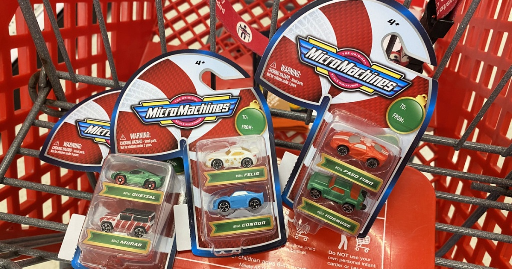 MicroMachines in shopping cart at target